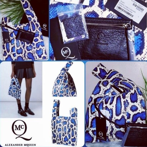 Alexander McQueen Handbags - ALEXANDER MCQUEEN |⭐HP⭐ RARE Blue Python Plath Bag